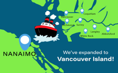 We've crossed over to Vancouver Island!